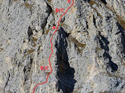 Klettersteig Köllenspitze : Schneetalalm klettersteig köllenspitze